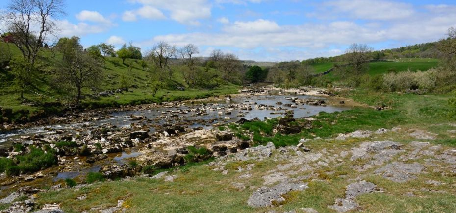 River Wharfe south of Grassington (Yorkshire, England 2016)