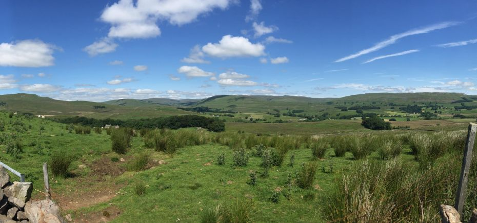 View from the B6255 in the Yorkshire Dales