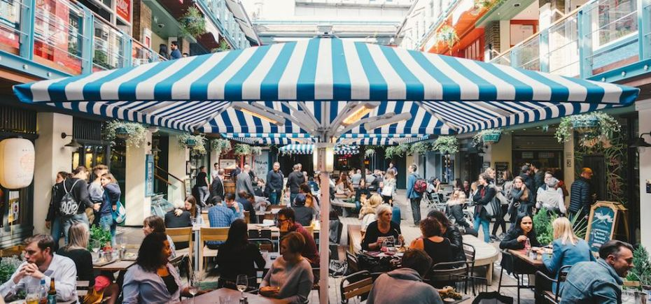 Diners at Kingly Court in Carnaby.