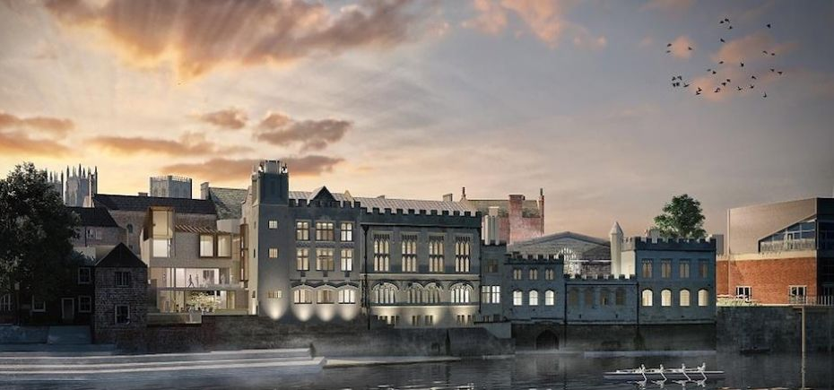 An artist impression of what the proposed Guildhall complex will look like.