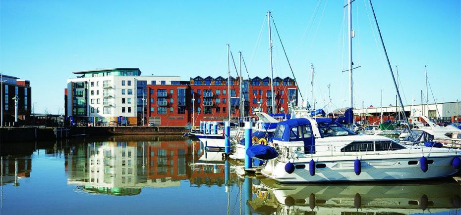 Hull's marina area, which has seen significant regeneration and investment.
