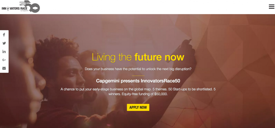 Capgemini has launched its Innovators Race competition today.