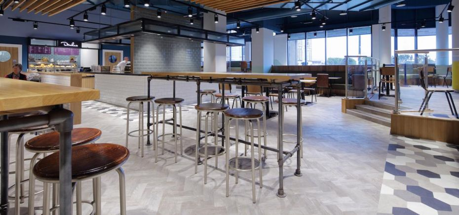 Inside the The Sovereign Centre's new dining area