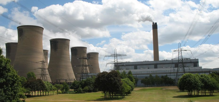 The power station at Eggborough near Selby, North Yorkshire.