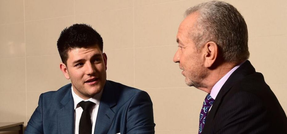 Climb Online business partners Mark Wright and Lord Sugar.
