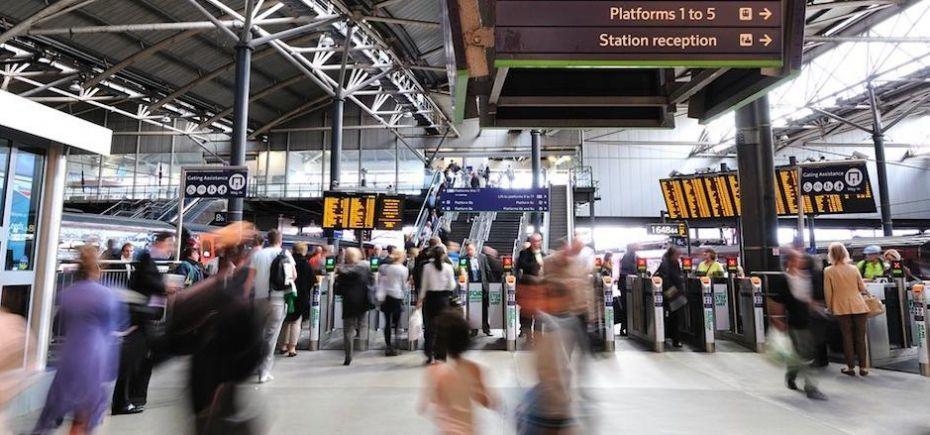 Leeds Station.