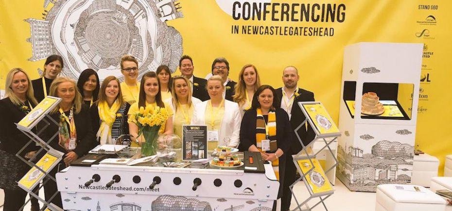 Convention Bureau team on the NewcastleGateshead stand at International Confex 2016.