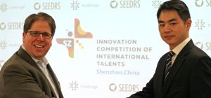 Seedrs' CEO Jeff Lynn and InteBridge's Xuhan Guo.