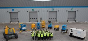 The Old Trafford HSS team outside the newly expanded refurbishment centre