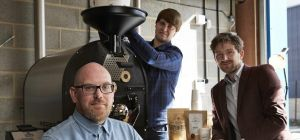Nino Di Rienzo (Casa Espresso owner), Jonnie Drake (roaster and barista trainer) and Matthew Adams (
