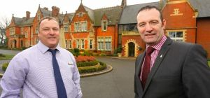 Ringing the changes: Rockliffe Hall's Ivor Godfrey (left) and Advantex's Stephen O'Connell
