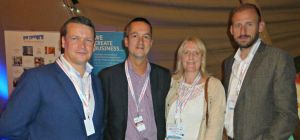 LHA chairman James Rush with MD of Venues.org Paul Sung, enterprise enabler at The Women's Organisat