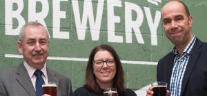 Martin Curran (Lowrie Foods), Julia Austin (Tyne Bank Brewery) and Paul Earnshaw (Short Richardson &