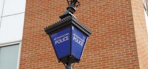 Lantern outside Lewisham police station