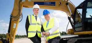St. Modwen development manager David Nuttall (left) with Liverpool Mayor Joe Anderson
