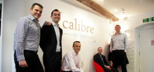 Calibre Search managing director Mark Lyons (pictured far left with fellow directors Pete Gillick, S