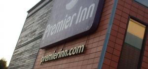 Sign of the Premier Inn, Bath Road, Heathrow