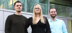 Tom Othick, creative advertiser, Janni Thornton, founder, Patrick McDonough, systems administrator