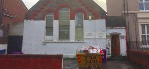 Outside the Heald Street chapel