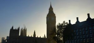 Low sun at Westminster