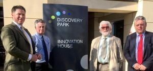 NCL's Jerry Biggs and Alan Walker and WHP's John Challenger and Nigel Hall at Discovery Park