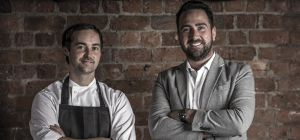 Head chef Martin Simm (left) and general manager Kyle Dottie (right)