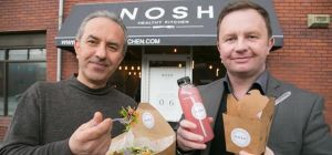 L-r: Shary Jahangir, of Nosh Healthy Kitchen, and Geoff Hogg, of Linthorpe Developments