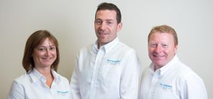 Managing Director Steve Loake (right) with fellow company directors Cath Hough and Brigg Simpson