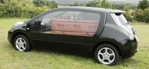Full Circle Funerals' new electric hearse.