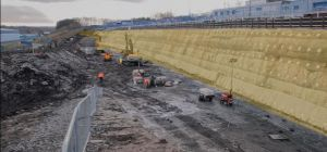 Esh Group's civil engineering business – Lumsden and Carroll – built Europe's largest earth wall str