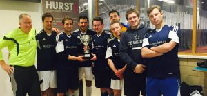 Brown Shipley's victorious squad with their trophy