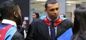 The UK's first advanced legal apprentices at the Manchester Metropolitan University graduation cerem