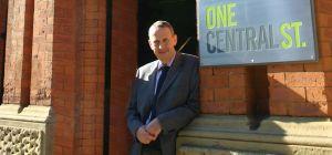 Brian Morris outside BCM's Manchester city centre HQ