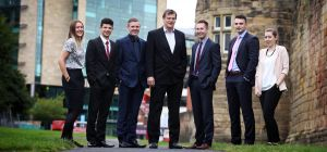 UNW partner Steve Lant with the firm's achieving young talent