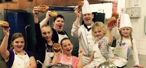 Chef Chris Wells with the local children