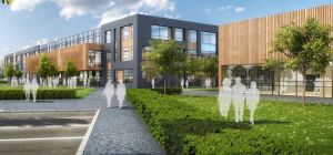 CGI images of Branston High School, which Seddon is currently delivering for Staffordshire County Co