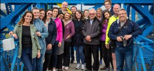 Endeavour Partnership's team at the top of the Transporter Bridge