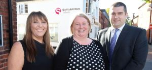 (l-r) Rebecca McMullan, Melanie Blackburn and James Wright (all QualitySolicitors Talbots)