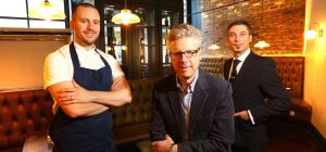 Troy Terrington, chef patron, Andy Hook, md and Florin Stan, manager of Dobson and Parnell