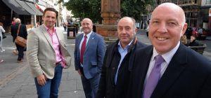 L to R: Ollie Vaulkhard, Vaulkhard Group, Cllr Ged Bell, Newcastle City Council, Sean Bullick, Chie
