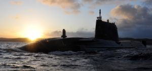 HMS Astute, one of the Royal Navy's nuclear-powered submarines.
