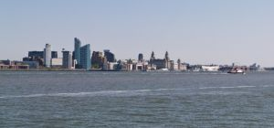 Sunny Liverpool Skyline from Egremont