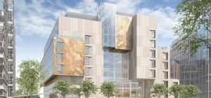Artist's impression of Building C at the Imperial College London's new Molecular Sciences Research H