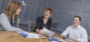 L - R: Paige Groombridge, Hilary Harrison & Mark Black - managing director of Sovereign Adavo.