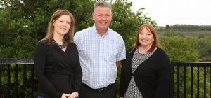 l to r:  NEAA's Laura Gage, Eddie Leng and Deborah Fletcher . 2 l to r sitting: Eddie Leng, Deborah