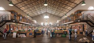 Artist's impression of the revamped Scarborough Market.