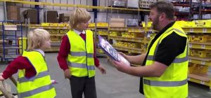 Founder Dan Cluderay with his two sons on ITV's 'Bargain Fever Britain.'
