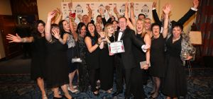 This year's NECCA winners pictures with susanne Henderson from headline sponsor Sage UK