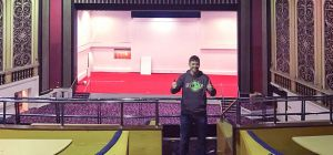 Flip Out MD, Jon Inwards, at the venue, which is soon to be transformed.