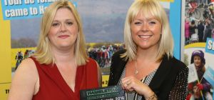 L-R, Sue and Anna with their award